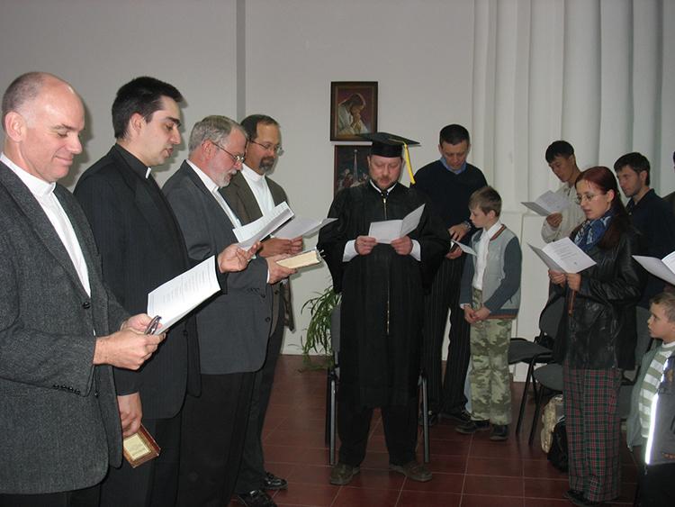 Graduation Ceremony for Igor Krutogolov.
