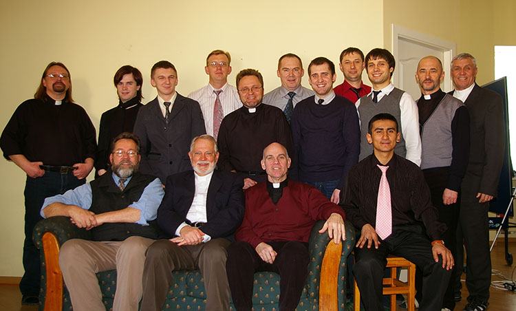 Seminary professors and students. March 2011.