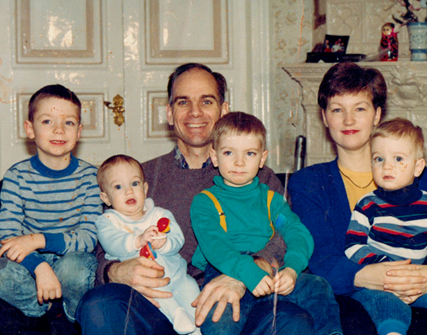 The Purcell Family in St. Petersburg in the early 1990s