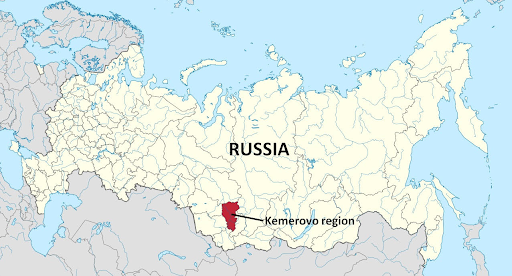 Kemerovo Oblast of Siberia. A 5 hour plane flight from Moscow. It is the coal mining capital of Russia, which helped it become and stay a world power.