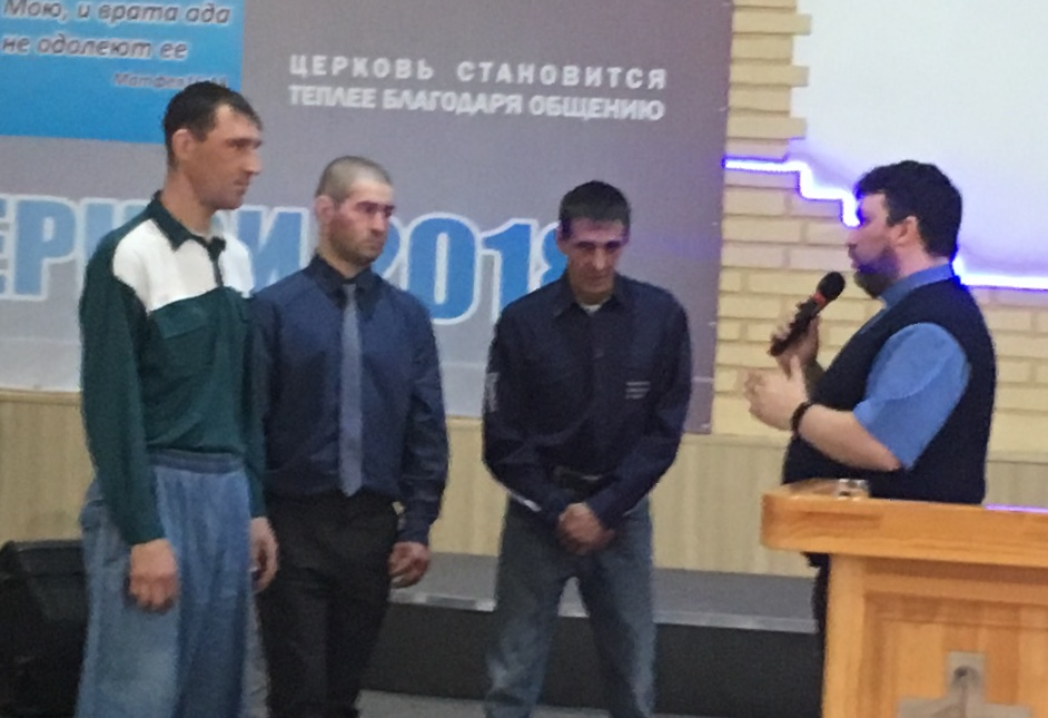 The prayer of repentance of three drug addicts in the church of Pastor Andrea Skryabin in Siberia.