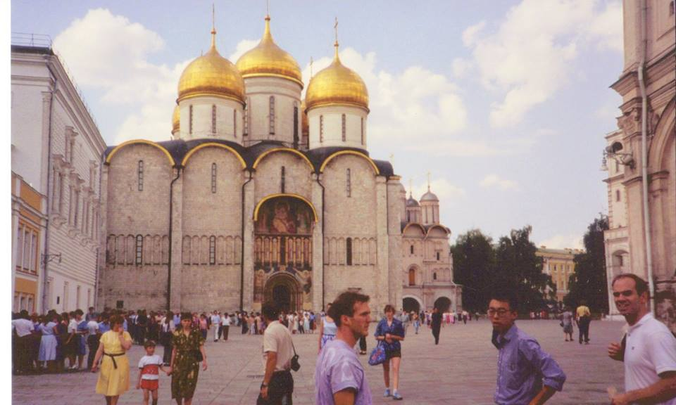 Left to Right, Ronnie, David, Blake, inside the Kremlin in July 1989