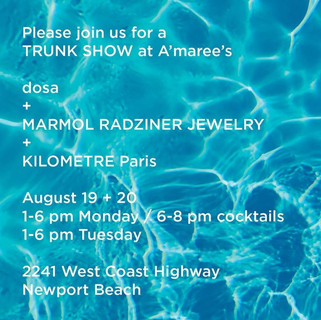 Next week we'll be featuring our Stone Collection at a trunk show with @dosaflyingfish and @kilometre.paris at @amareesnewport. Standard collection pieces will also be available. Hope to see you!