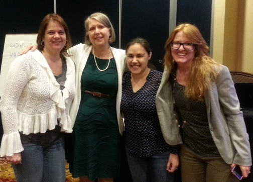 Nancy and students at a 2015 exam prep course