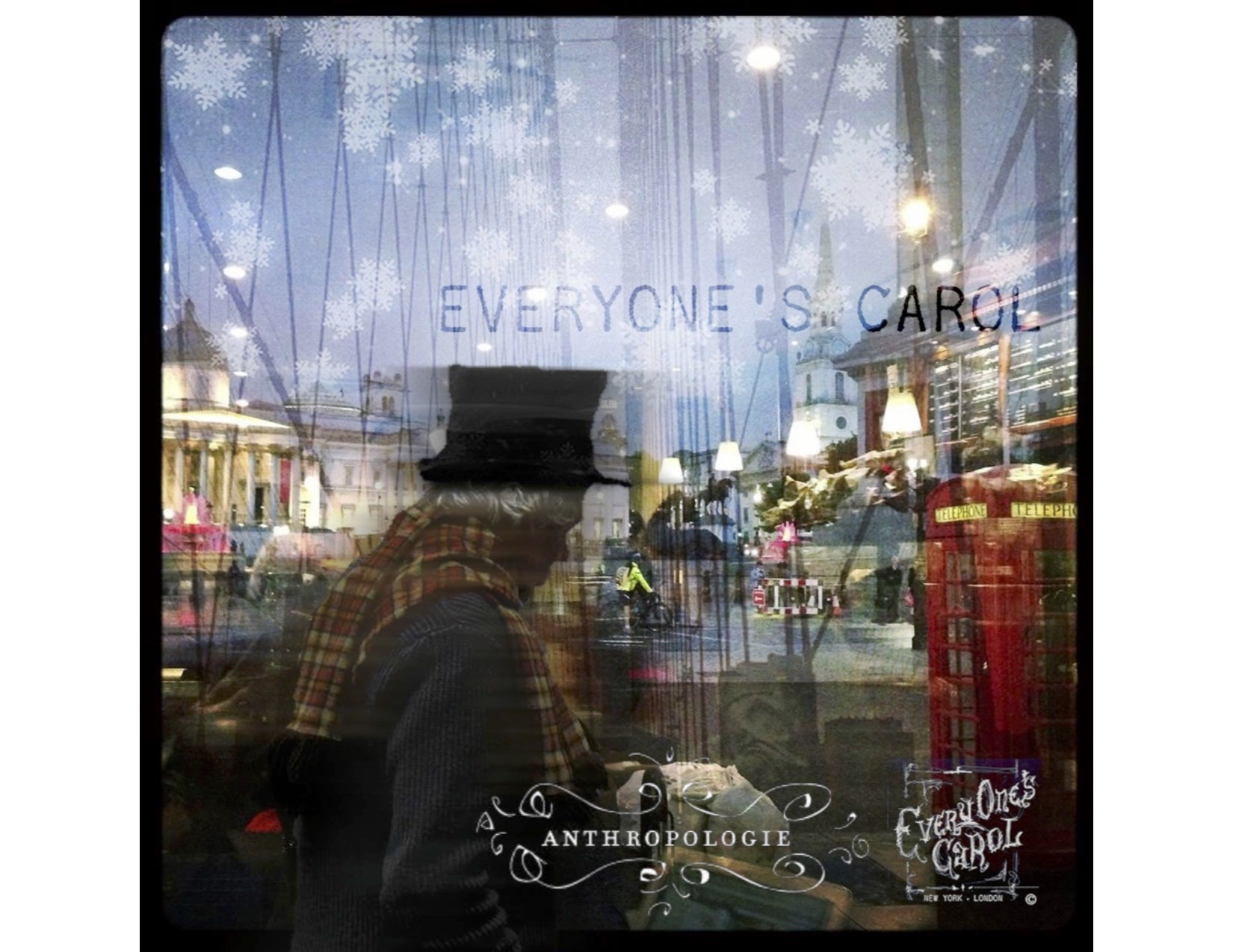 Laurie collaborated with Anthropologie London for a bespoke staging ofher global production of Charles Dickens classic tale, Everyone's Carol with over 40 artists from all over the world in their flagship store.  Everything is possible. Dream big. Go far. Make your vision come to life.