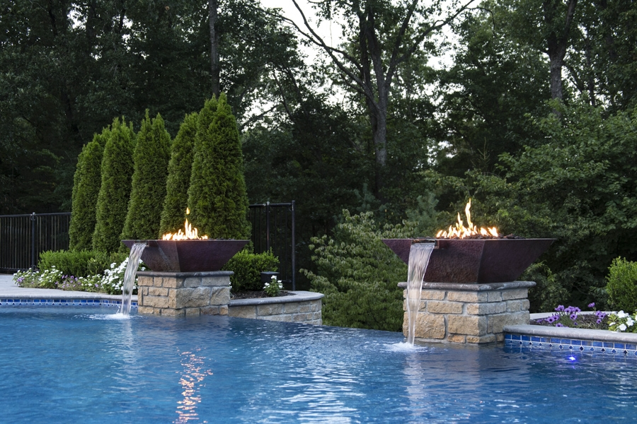 Builder Series Water/Fire Pots (Hammered Copper)