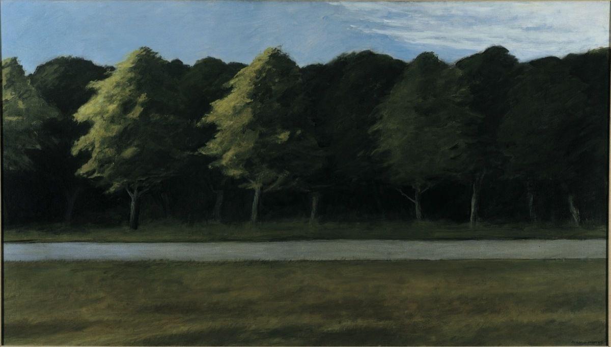 Edward Hopper's  Road and Trees