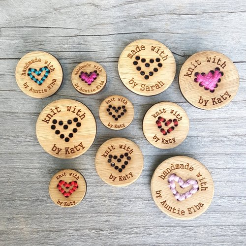Custom Stitchable Heart Buttons — katrinkles