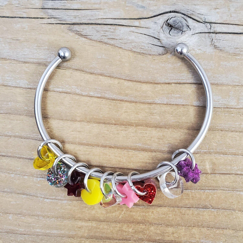 Acrylic Stitch Marker Cuff Bracelet