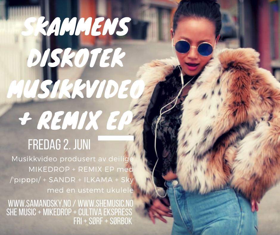 Skammen Remix EP og Musikkvideo Flyer.jpg
