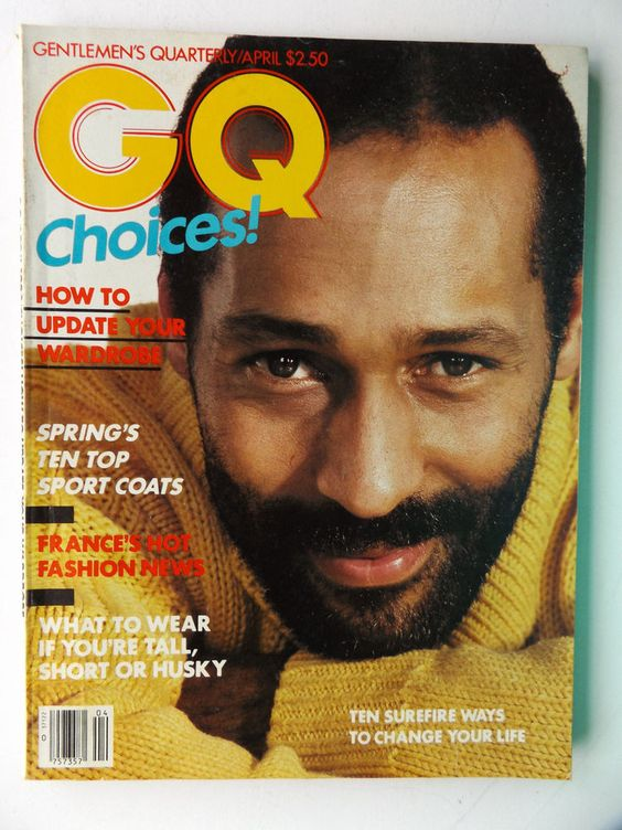 Star power: Reluctant Immigrants teacher Rashid Silvera – the first African-American man to appear on a GQ cover (April 1983)