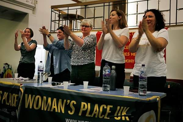 The panel at the 22nd Woman's Place UK meeting (London, 20th May 2019). Photo by: Pam Isherwood.