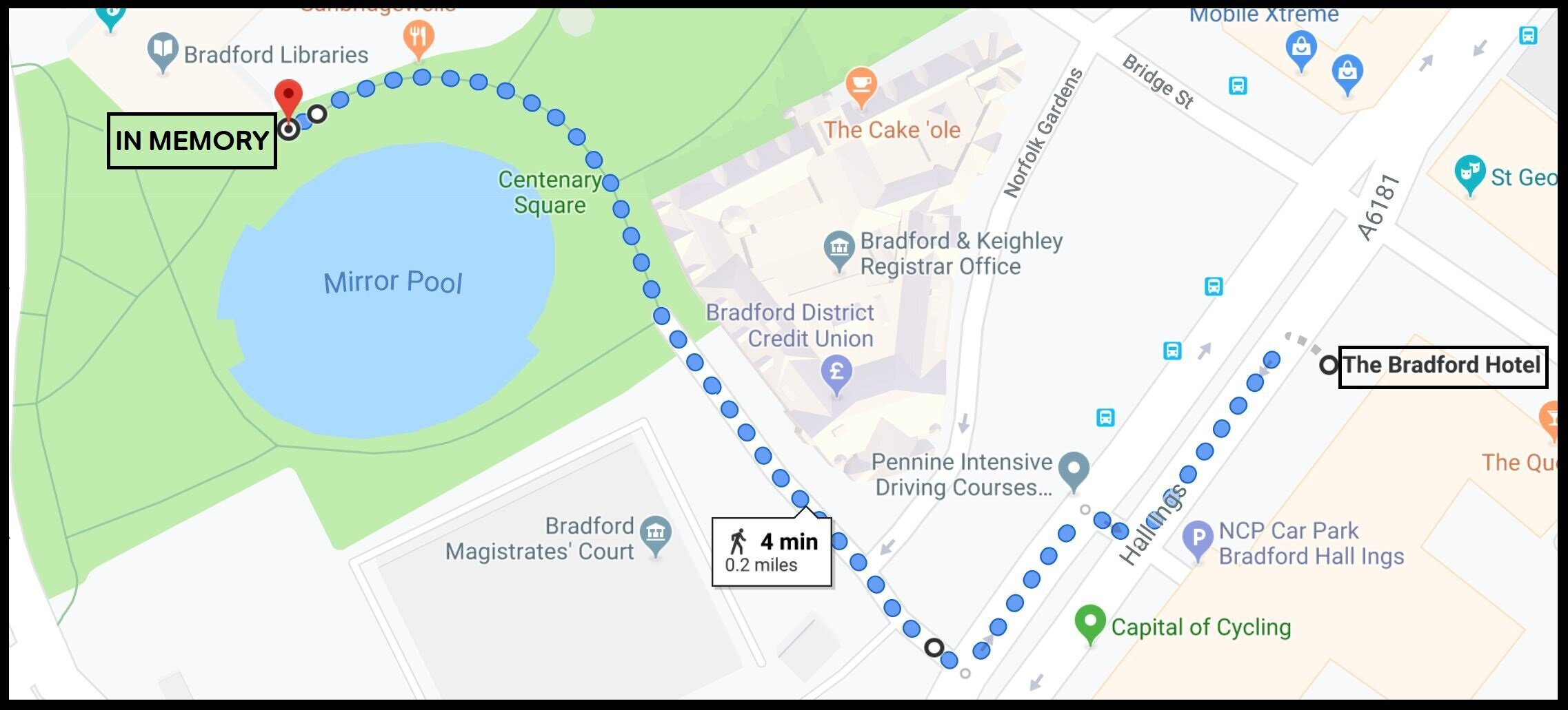 Route for In Memory: March Against the Sex Trade