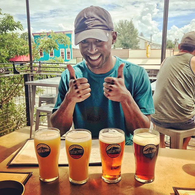 Welcoming our wonderful new intern, Joseph, to the team with some lunchtime libations at our favorite watering hole. He's crushing it!