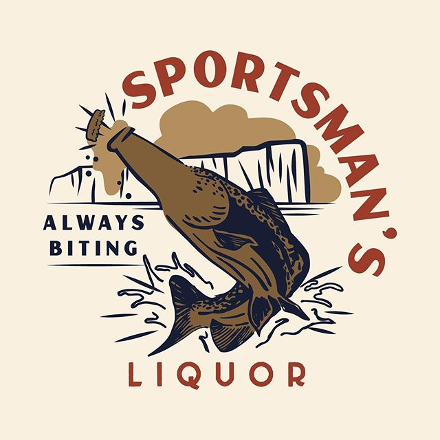 Finishing up a rebrand and new merch with Sportsman's Liquor. Next up: signage!