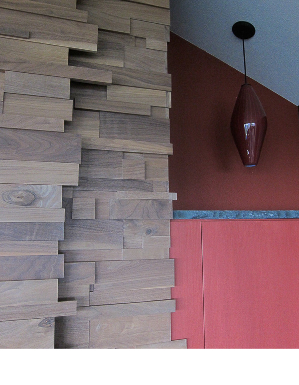 This detail shows the front of the tv wall door and wall face.