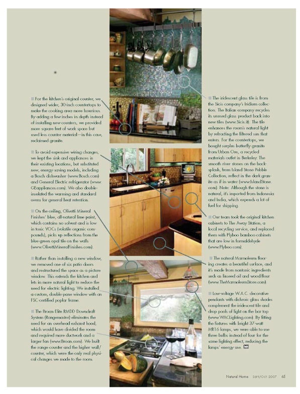 How to green a kitchen Natural Homes O Hefferman pg 2.jpg