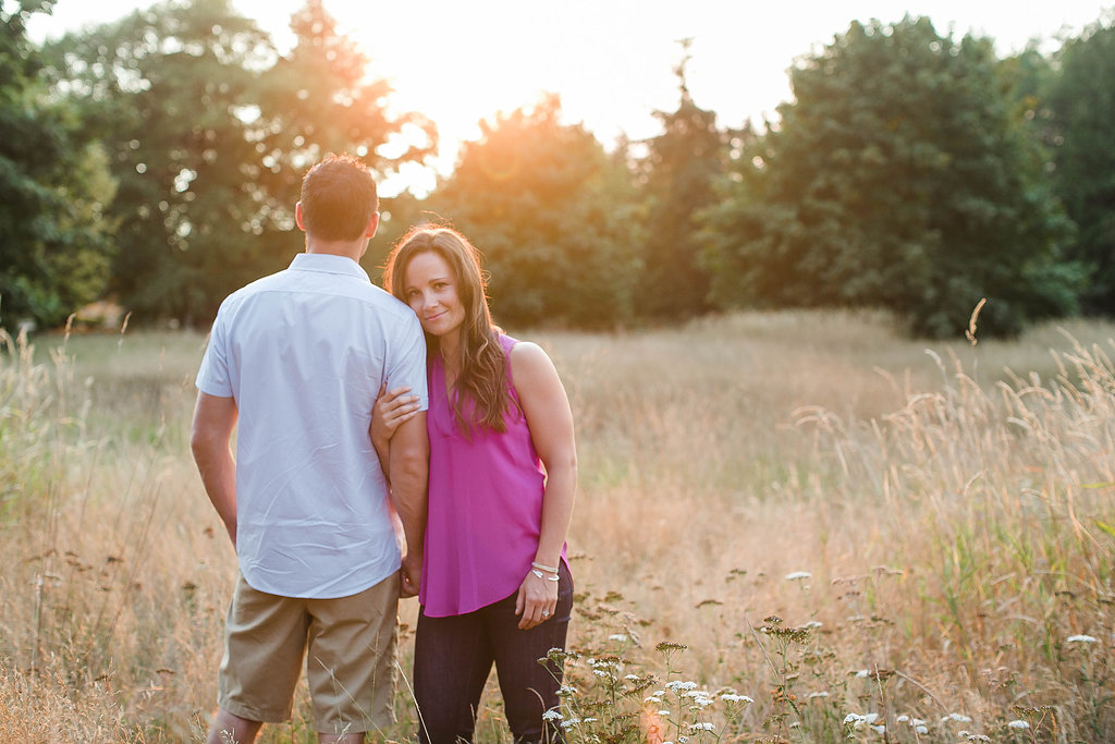 Discovery Park Engagement at Sunset, Seattle