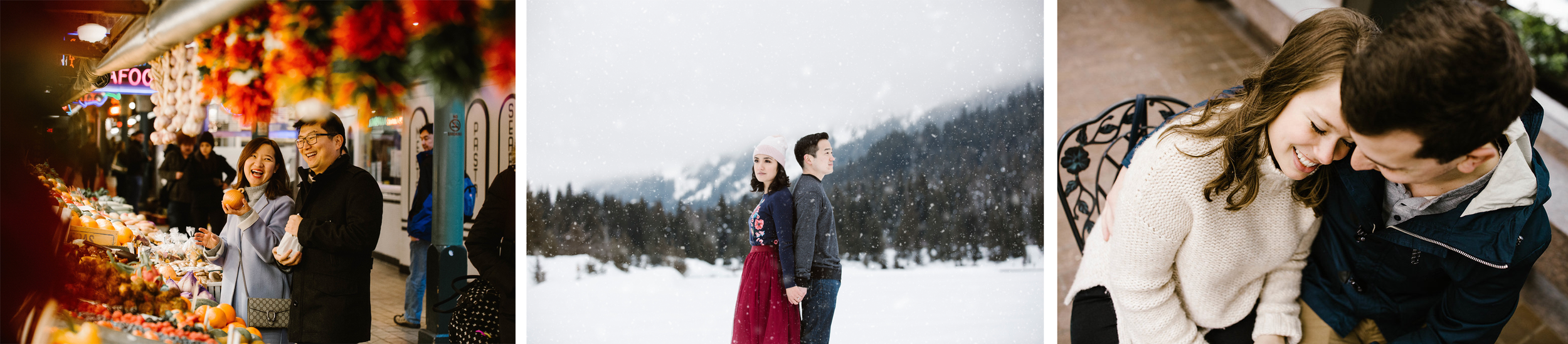 Seattle Engagement Photographer - Pike Market - Snoqualmie - Pioneer Square