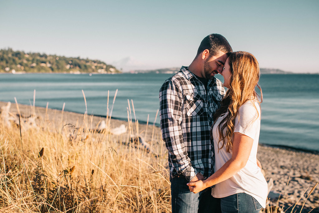 discovery park engagement photos by Seattle Wedding Photographer, Adina Preston