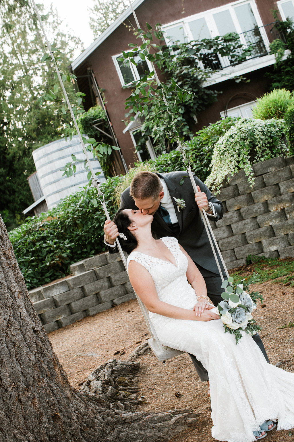 wedding photographers in seattle - green gates at flowing lake wedding in snohomish by seattle wedding photographer adina preston
