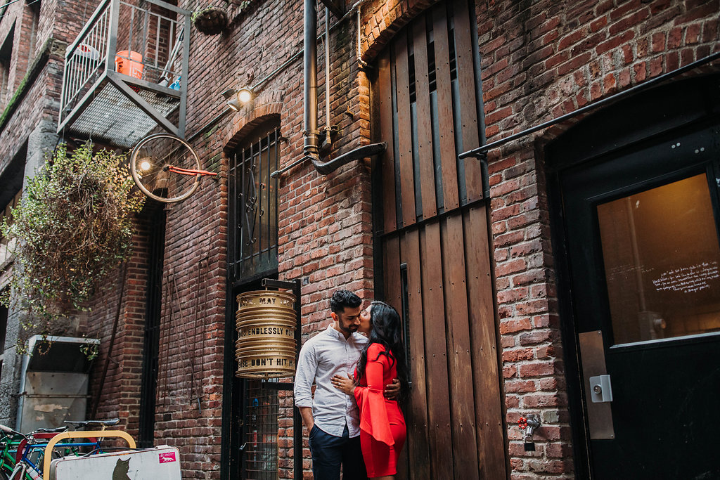 The bike shop we came across in Pioneer Square definitely worked awesome as a start-up point of Ruby and Ash's engagement session.