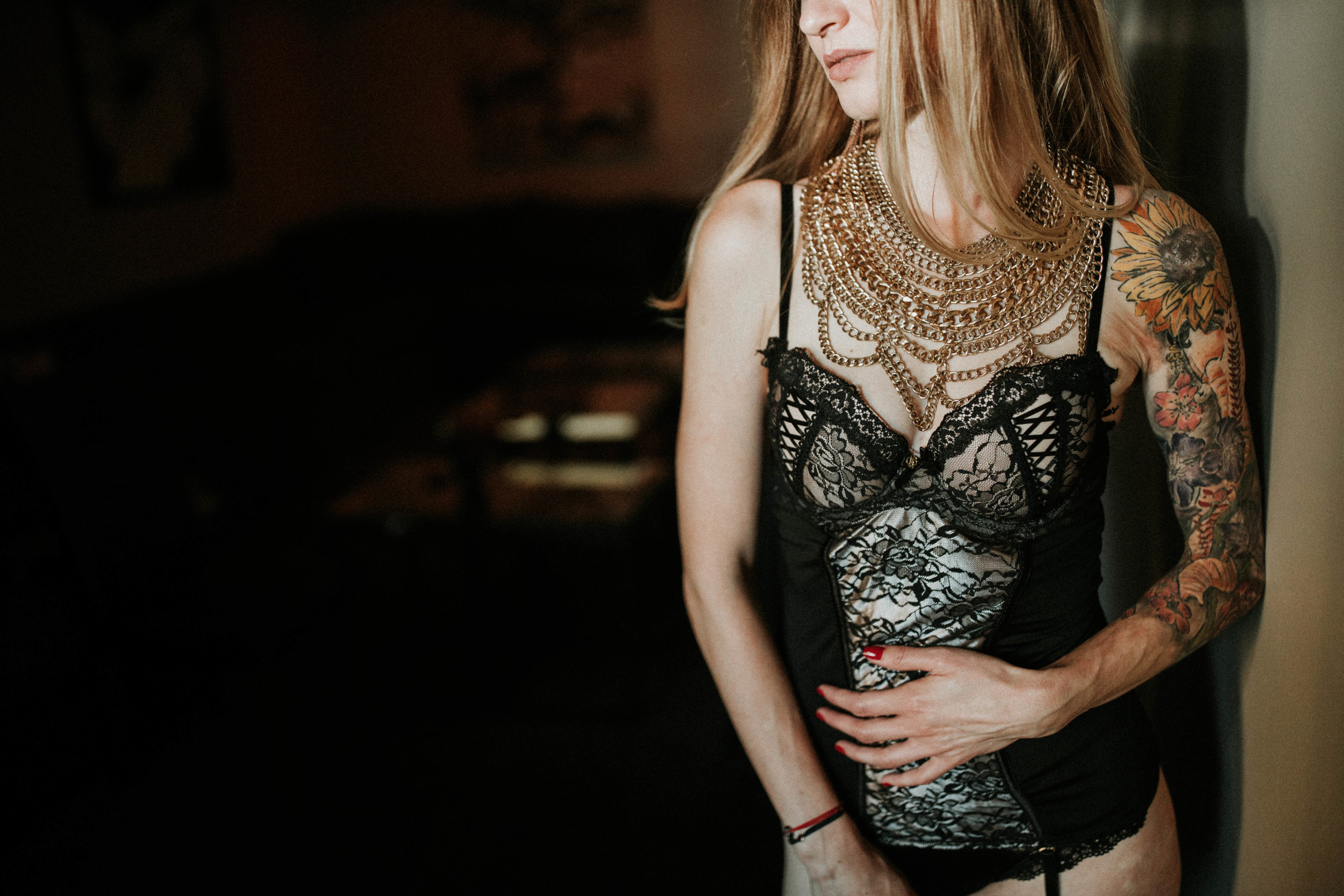 Girl boudoir session in Seattle with Adina Preston Weddings