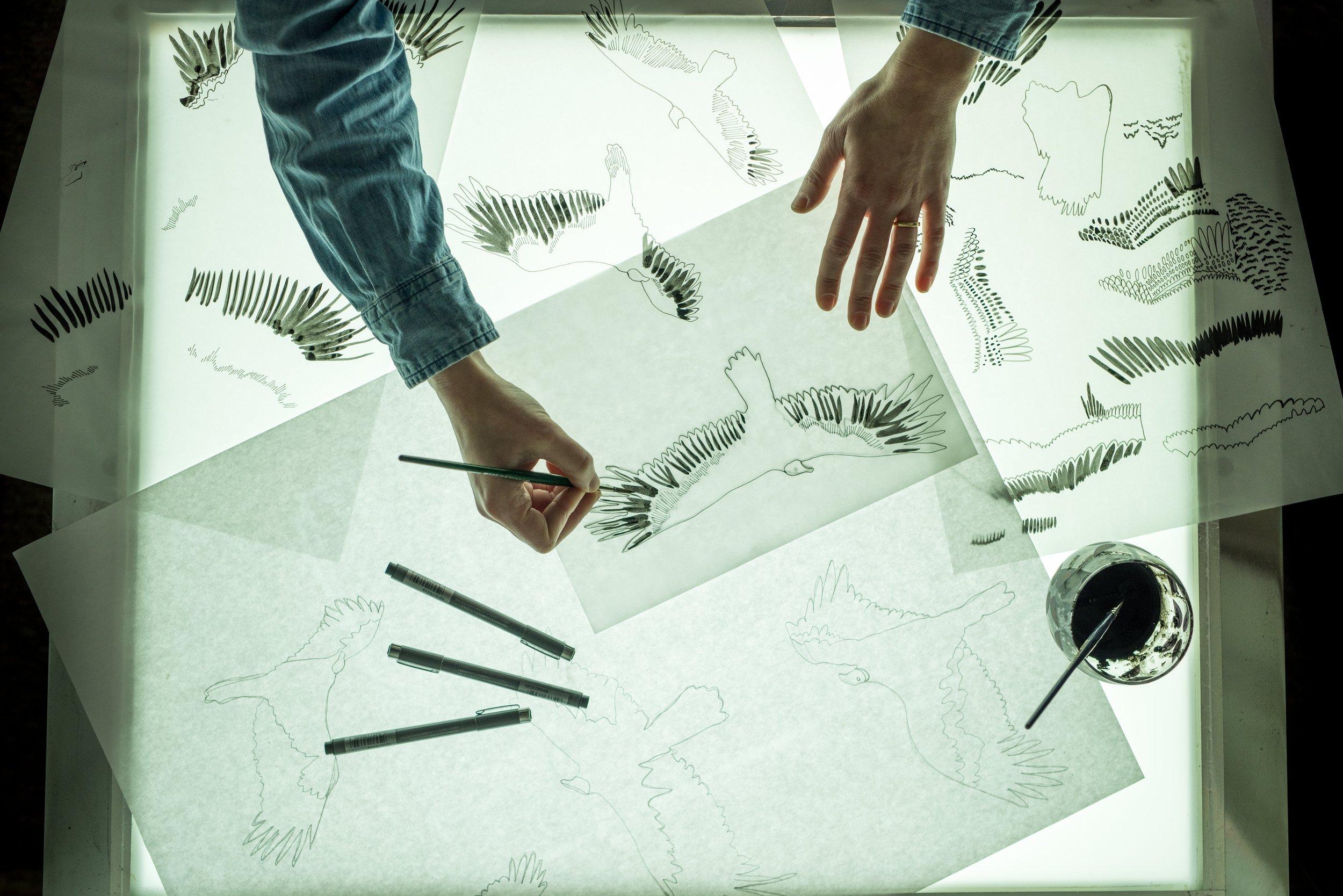 Kate Golding creative process.