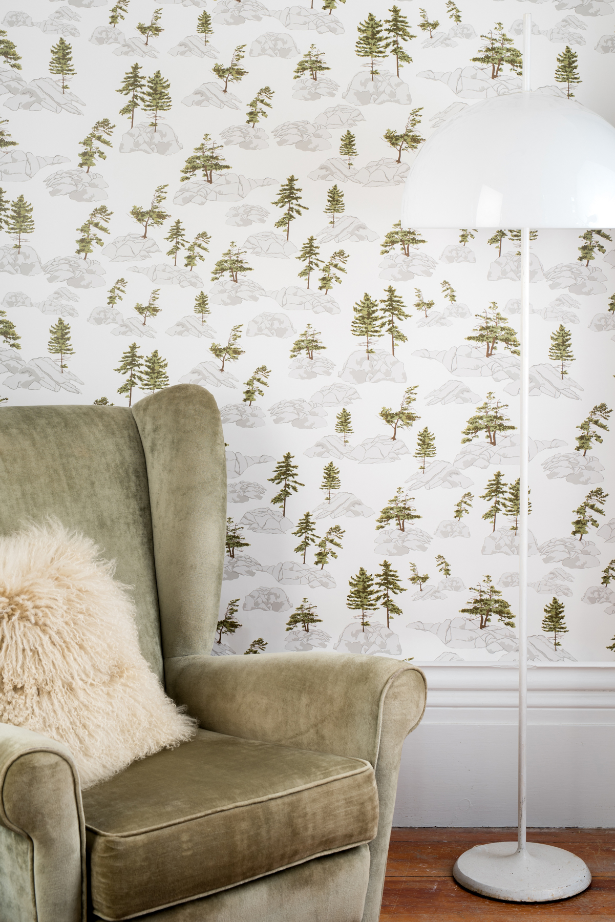 Kate Golding Canadian Shield wallpaper // Modern wallcoverings and interior decor.