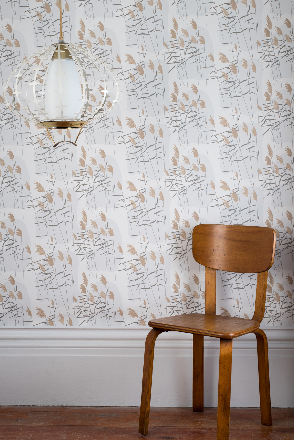 Kate Golding Grasses (Dawn) wallpaper // Modern wallcoverings and interior decor.