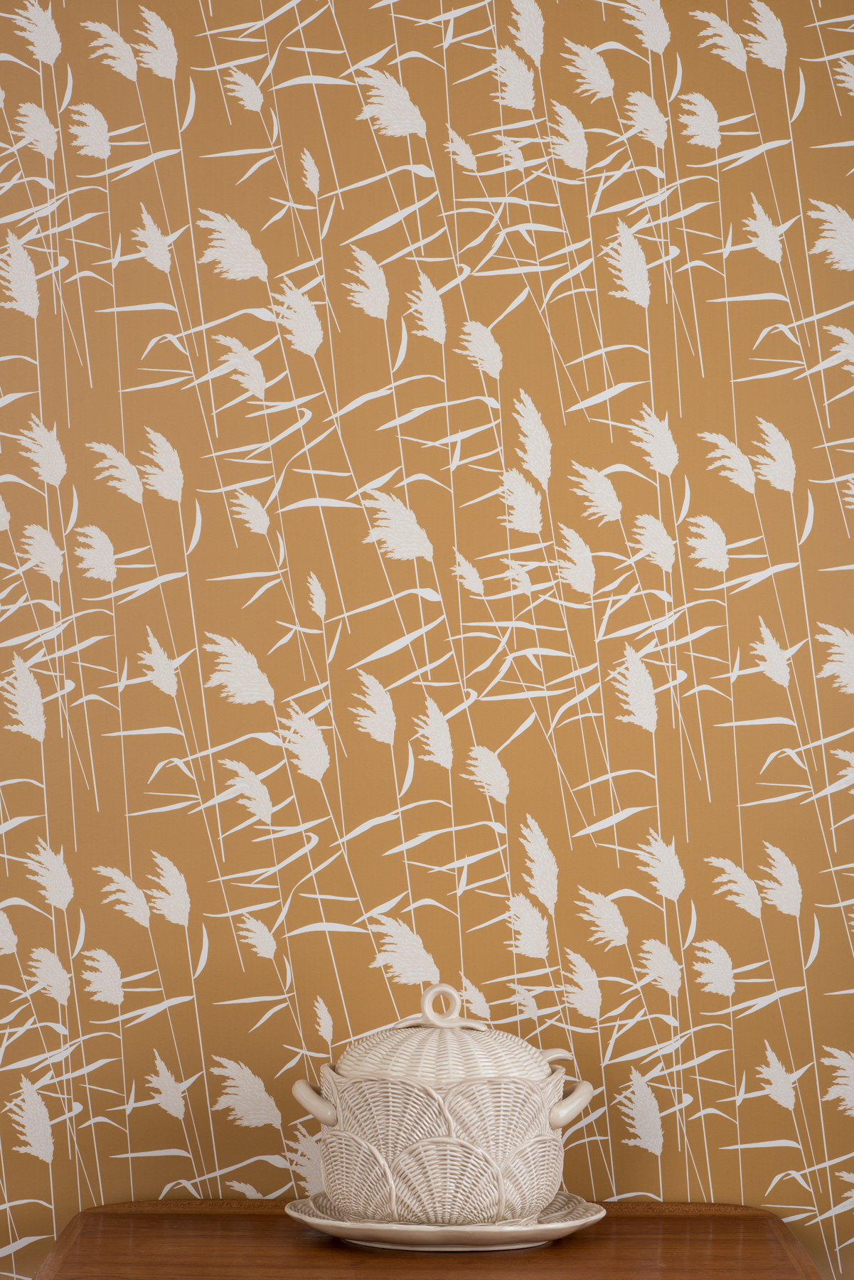 Kate Golding Grasses (Dusk) wallpaper // Modern wallcoverings and interior decor.