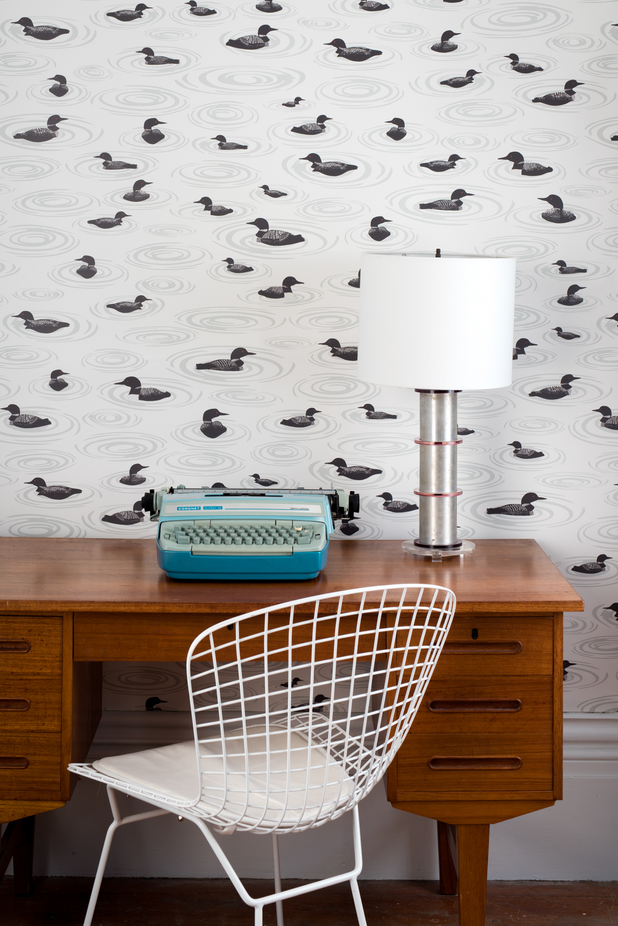 Kate Golding Loon Lake wallpaper // Modern wallcoverings and interior decor.