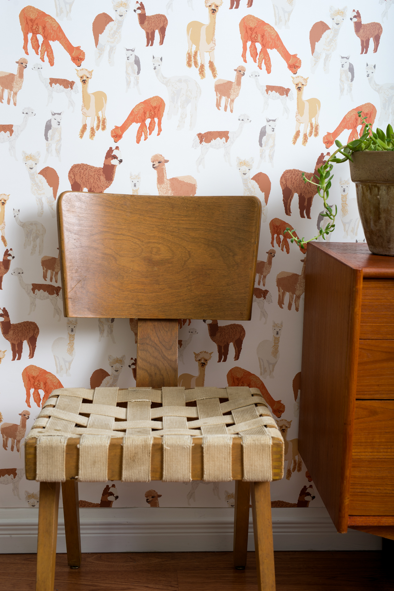 Kate Golding Alpaca wallpaper // Modern wallcoverings and interior decor.