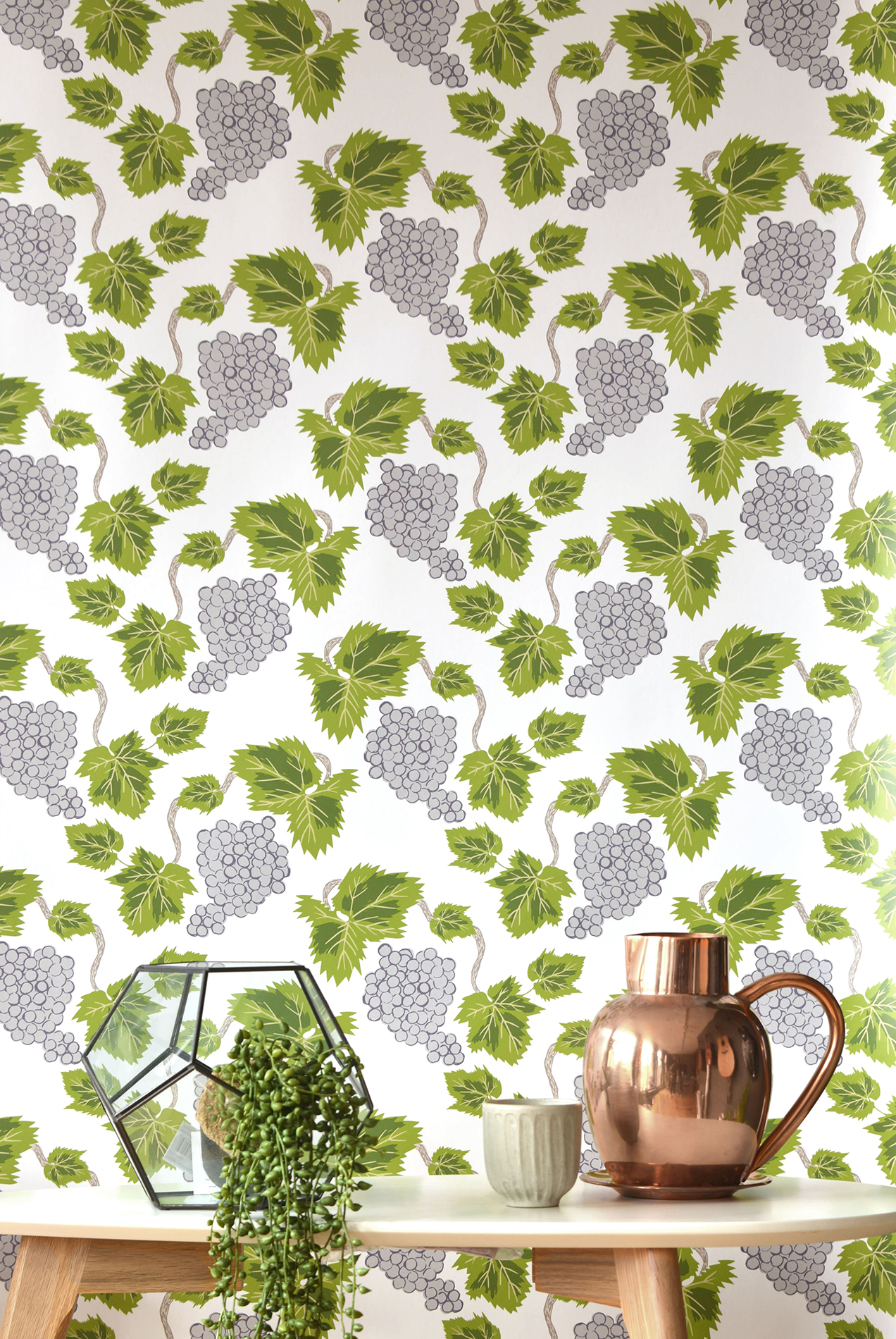 Kate Golding Pinot Noir wallpaper // Modern wallcoverings and interior decor.