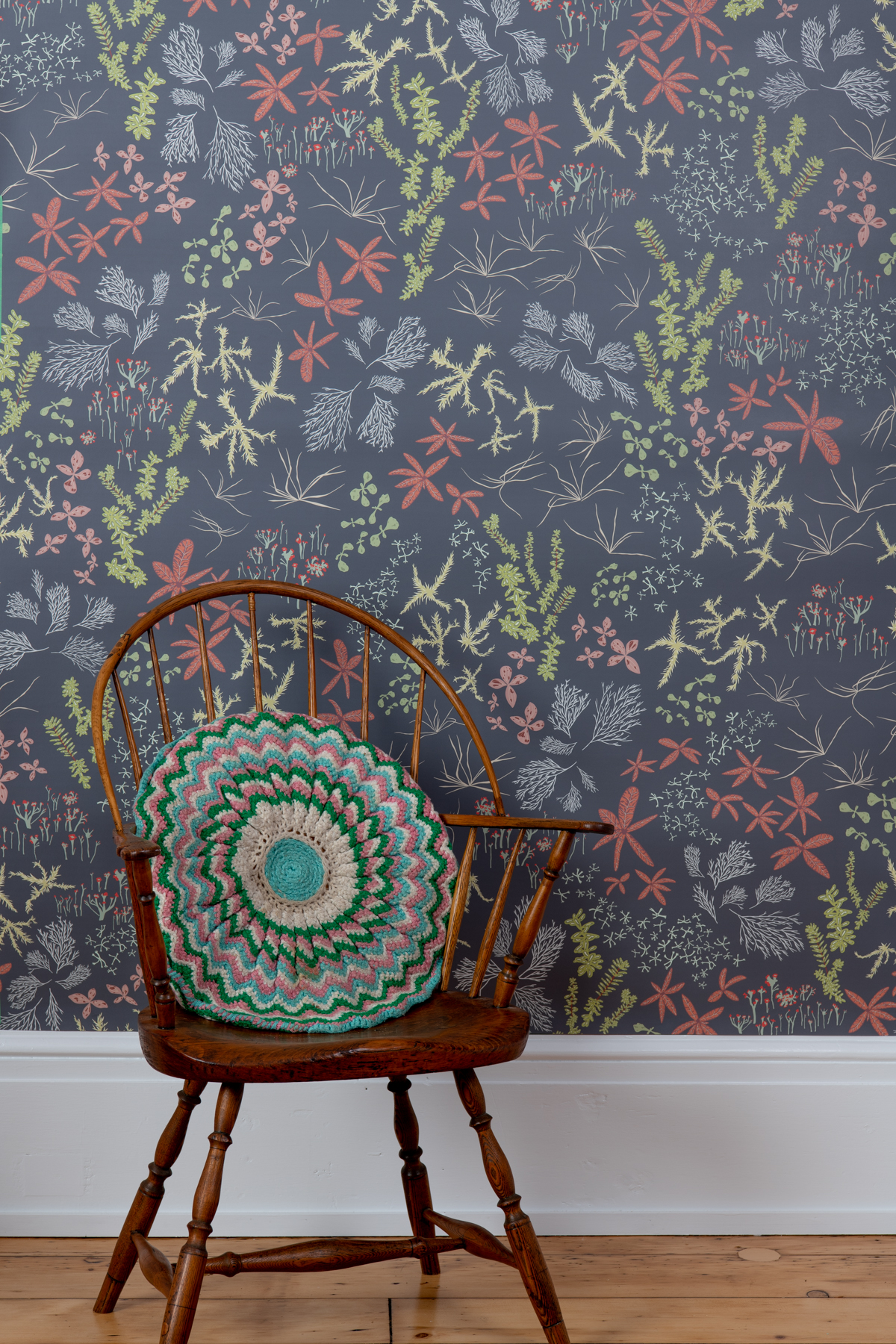 Kate Golding Bog (Charcoal) wallpaper // Modern wallcoverings and interior decor.