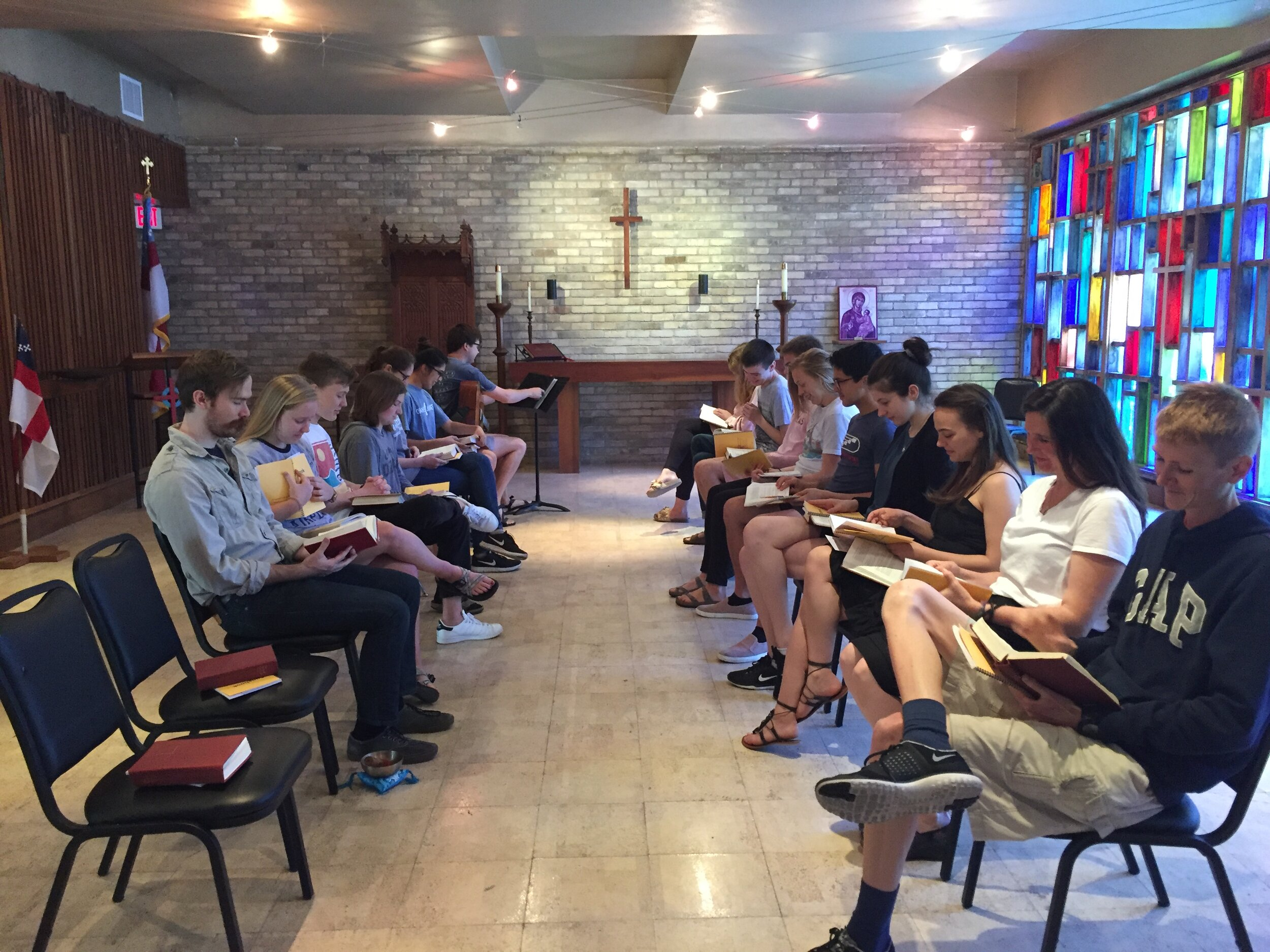 A service of noonday prayer in the chapel of the holy spirit