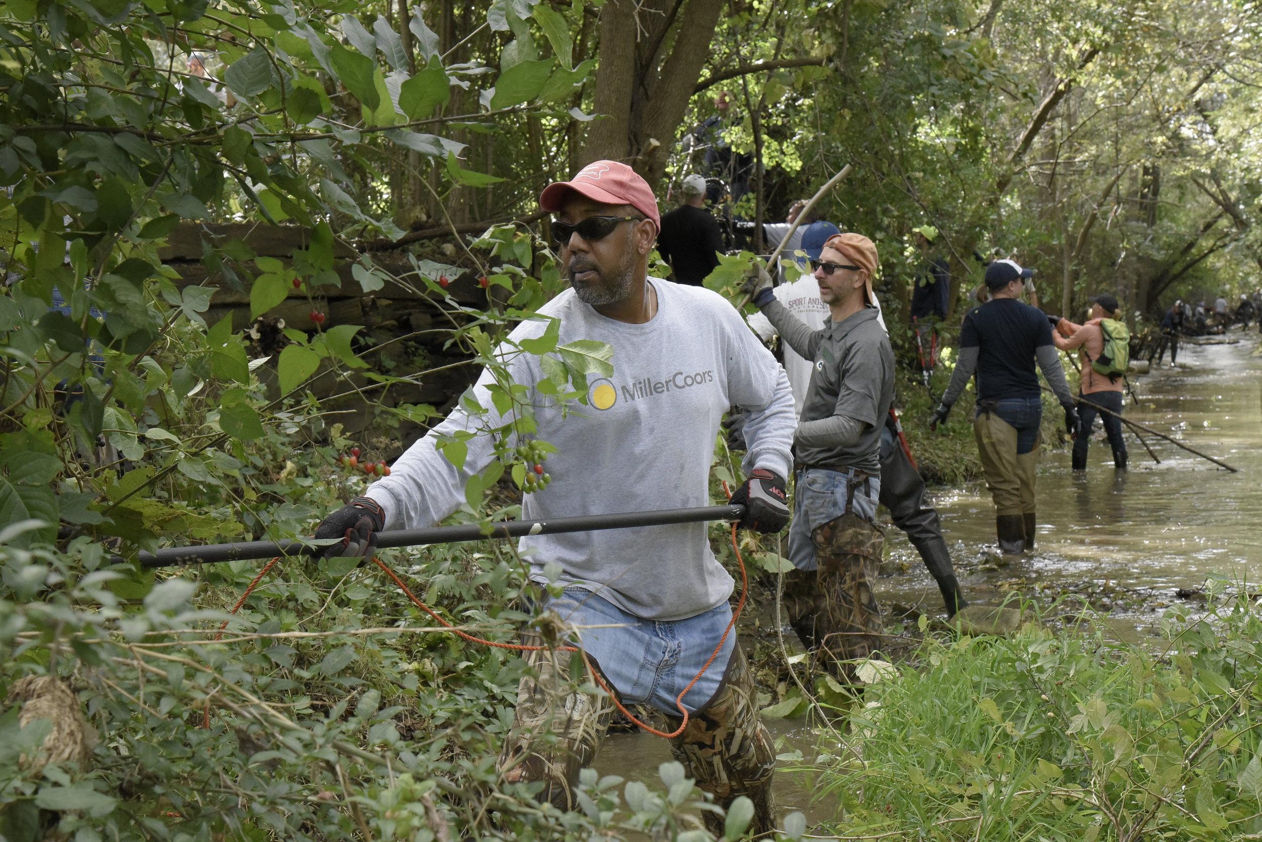 Work on South Branch Creek