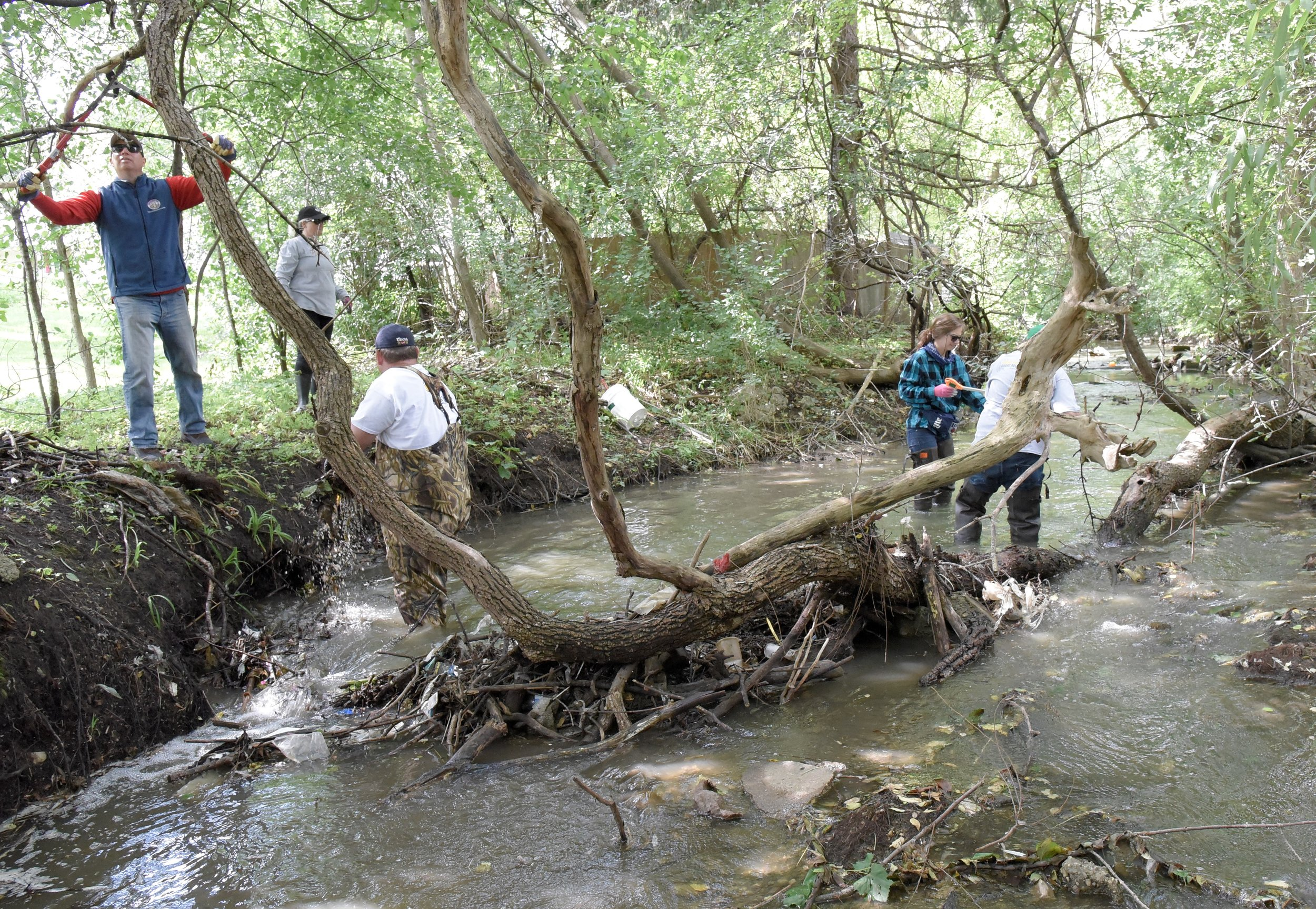 Phase 1 of removing a blockage on Beaver Creek