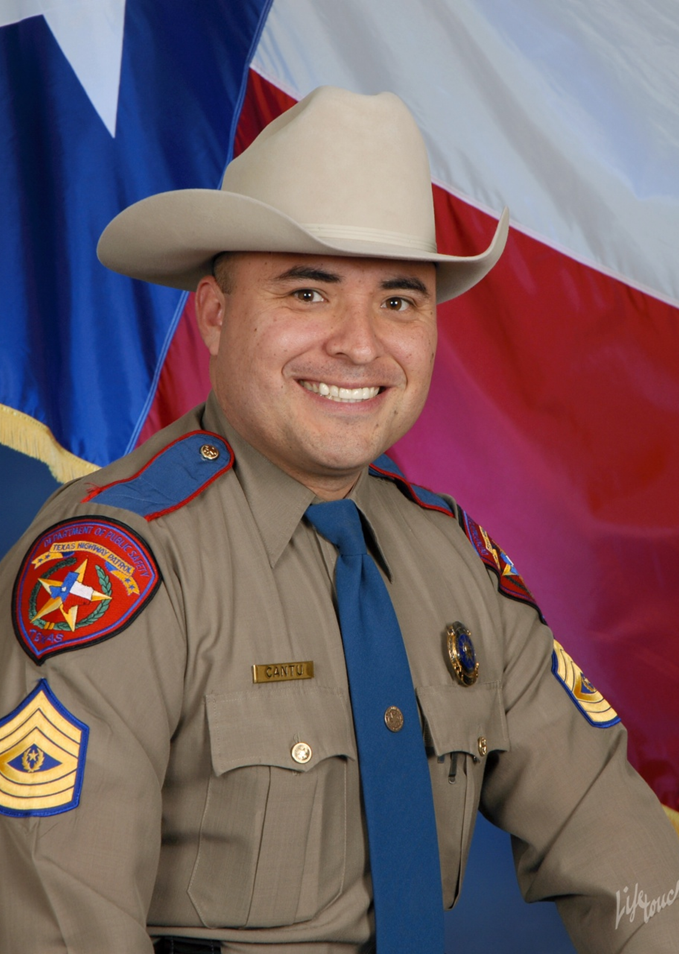 Sgt. Mike Cantu  Director  Sgt. Michael Cantu, is currently stationed in Cuero, TX. Mike earned a B.S. in Criminal Justice, Texas A&M Corpus Christi in 1998. He graduated from DPS Recruit School A-99 2000-2008 and was promoted to Sergeant in 2008. Mike is a valued expert in DPS insignia, uniforms, patches and badges.