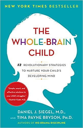 "The Whole-Brain Childby Daniel J. Siegal and Tina Payne Bryson - Daniel J. Siegel, neuropsychiatrist and author of the bestselling Mindsight, and parenting expert Tina Payne Bryson offer a revolutionary approach to child rearing with twelve key strategies that foster healthy brain development, leading to calmer, happier children. The authors explain—and make accessible—the new science of how a child's brain is wired and how it matures. The ""upstairs brain,"" which makes decisions and balances emotions, is under construction until the mid-twenties. And especially in young children, the right brain and its emotions tend to rule over the logic of the left brain. No wonder kids throw tantrums, fight, or sulk in silence. By applying these discoveries to everyday parenting, you can turn any outburst, argument, or fear into a chance to integrate your child's brain and foster vital growth."