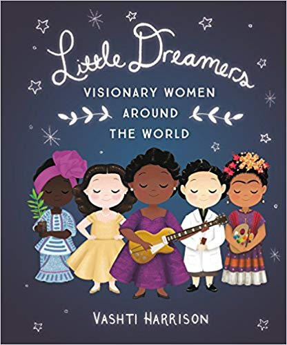 Little Dreamers: Visionary Women Around the World By Vashti Harrison - Featuring the true stories of 35 women creators, ranging from writers to inventors, artists to scientists, Little Dreamers: Visionary Women Around the World inspires as it educates. Readers will meet trailblazing women like Mary Blair, an American modernist painter who had a major influence on how color was used in early animated films, actor/inventor Hedy Lamarr, environmental activist Wangari Maathai, architect Zaha Hadid, filmmaker Maya Deren, and physicist Chien-Shiung Wu. Some names are known, some are not, but all of the women had a lasting effect on the fields they worked in.
