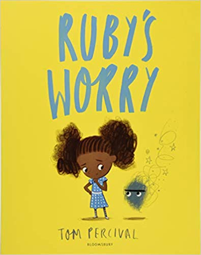 Ruby's Worry by: Tom Percival - Ruby loves being Ruby. Until, one day, she finds a worry. At first it's not such a big worry, and that's all right, but then it starts to grow. It gets bigger and bigger every day and it makes Ruby sad. How can Ruby get rid of it and feel like herself again? A perceptive and poignant story that is a must-have for all children's bookshelves.
