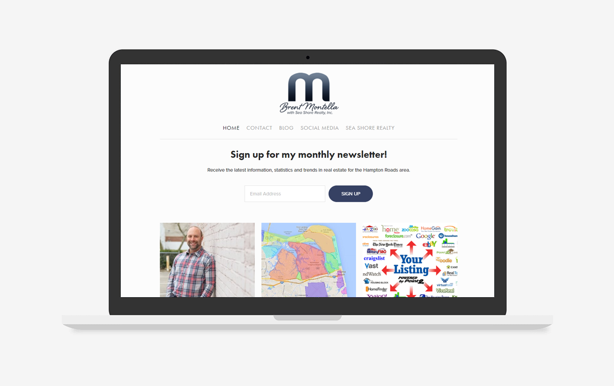 Brent Montella Website Design