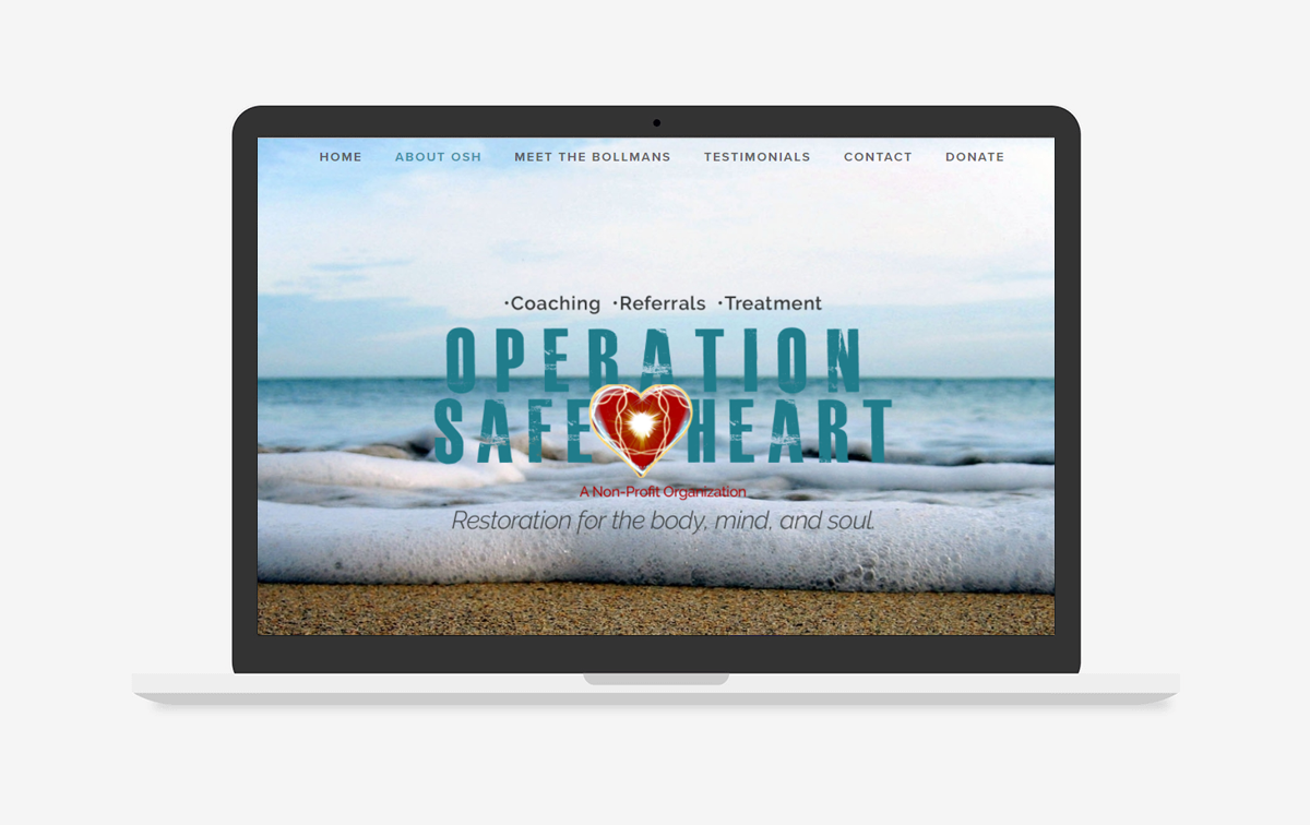 Operation Safe Heart Web Design