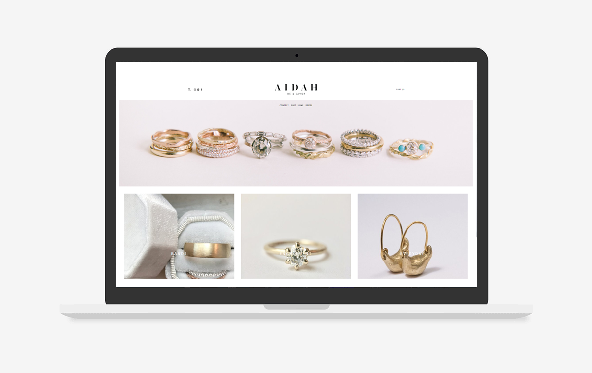 Aidah Jewelry Website Design