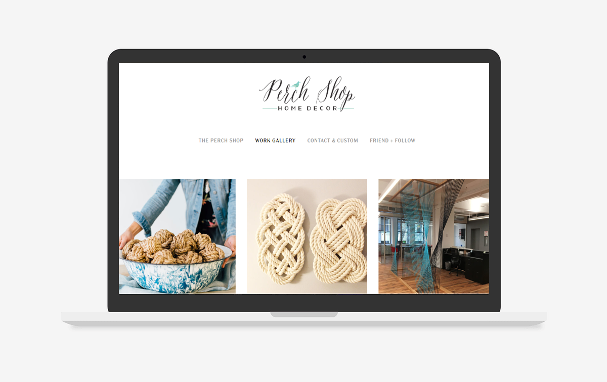 The Perch Shop Website Design
