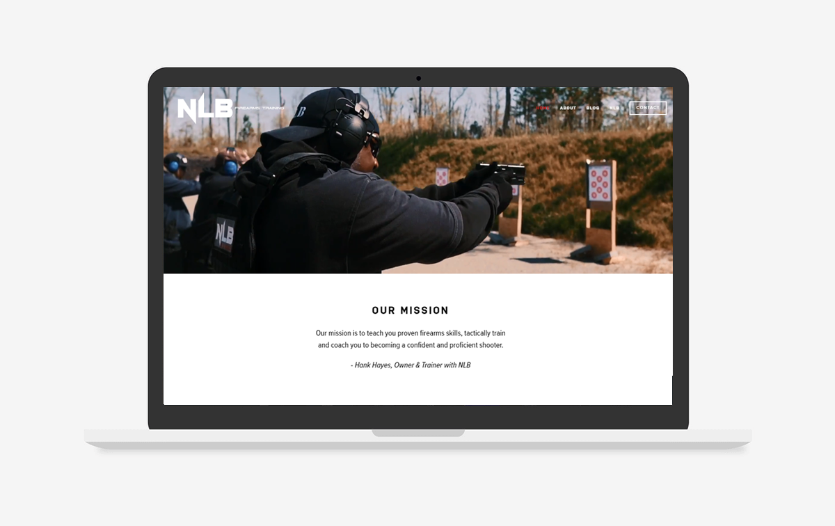 NLB Firearms Training Website Design