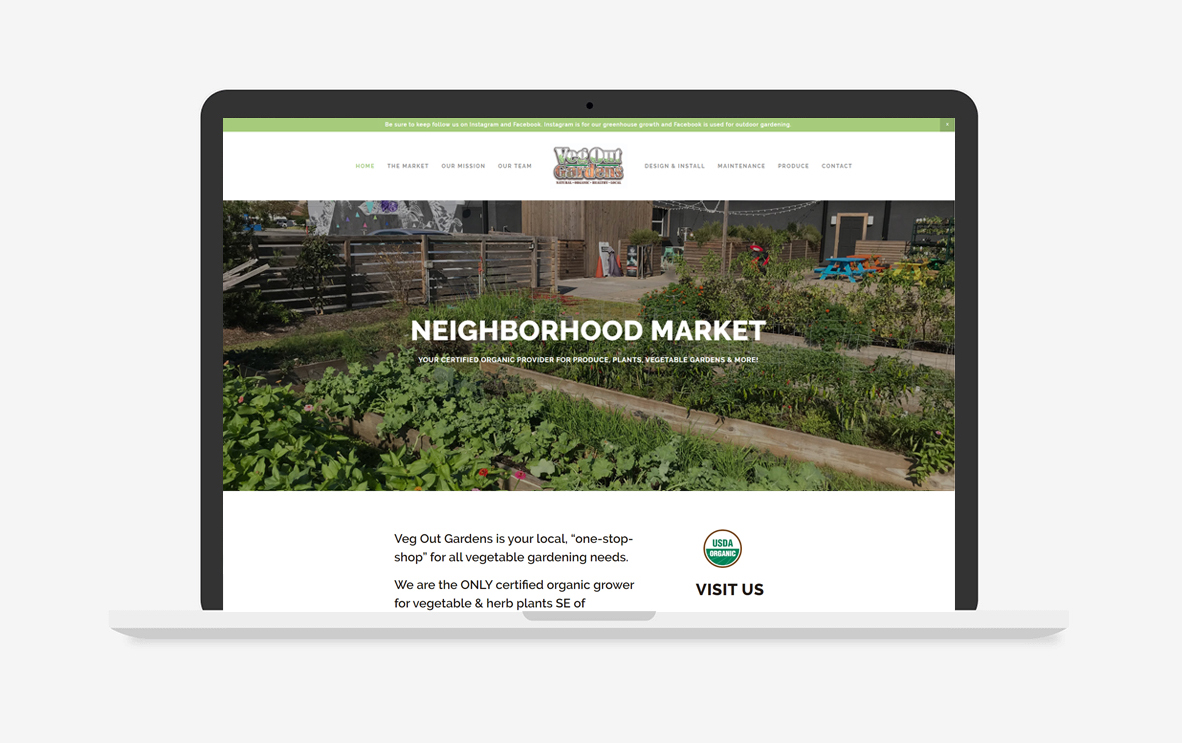 Veg Out Gardens Website Design