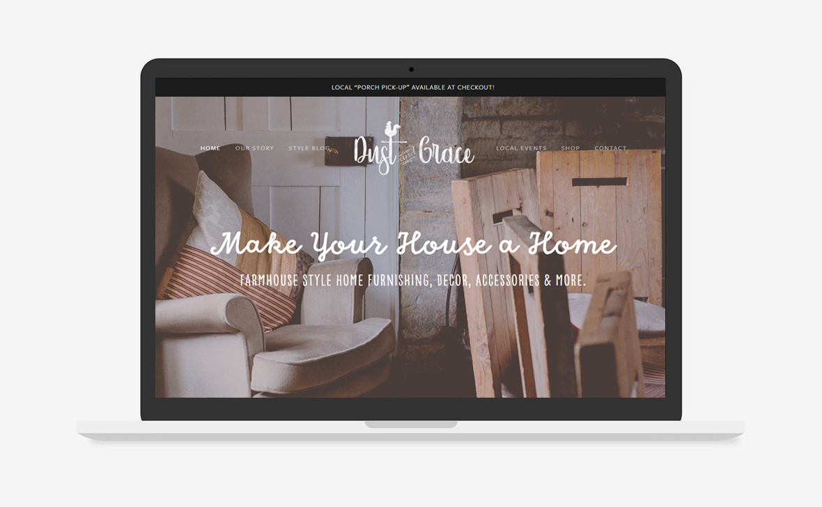 Dust and Grace Website Design