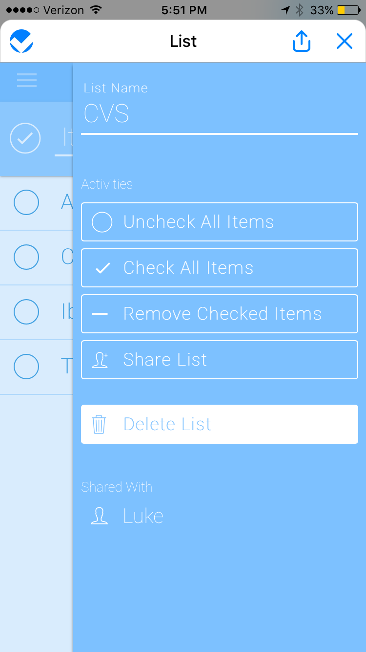 2. Including the Share link as a button in the visual UI